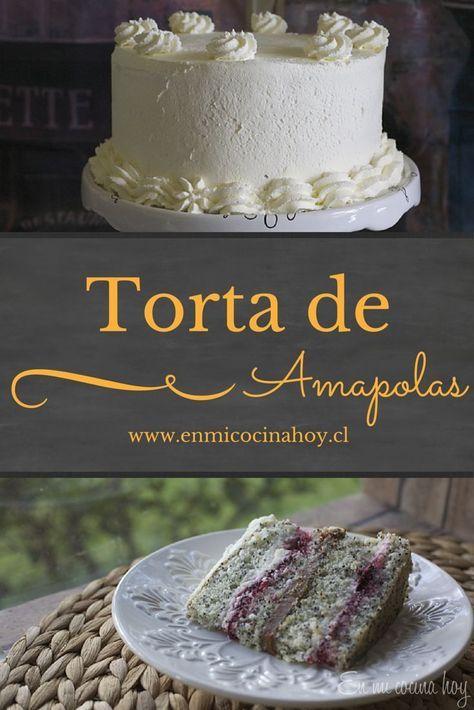 La torta de amapolas es muy popular en Chile especialmente en la zona sur del país. Esta con un suave y aireado bizcocho les va a encantar.