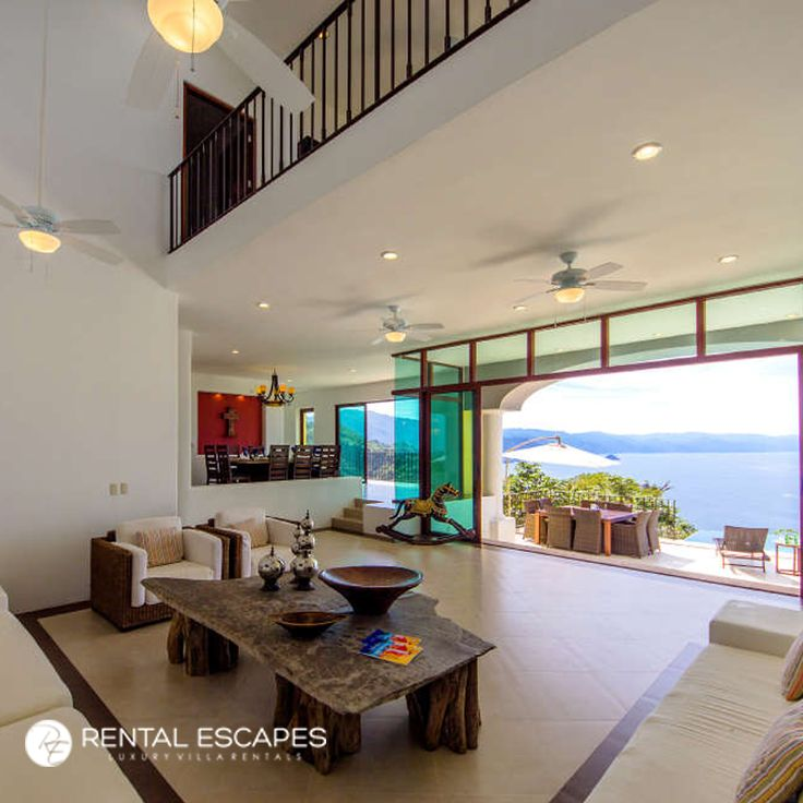 Check out Villa Santa Cruz in Mexico, with its stunning coastal views, large heated infinity pool, and high ceilings. It's the ideal villa for families looking to escape for the cold.