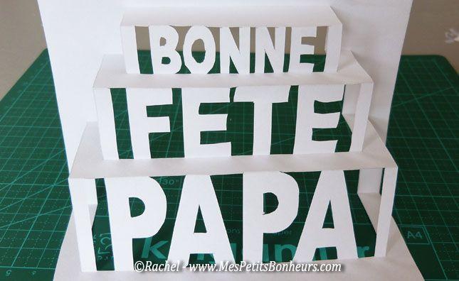 pop up pour carte fête des pères