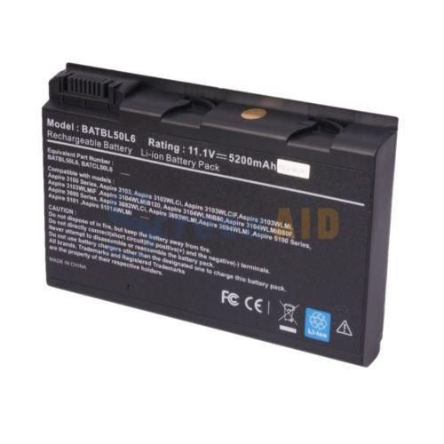 Laptop Battery for Acer Aspire 5610Z BATBL50L6 BATBL50L8 3690 5100 3100 3102