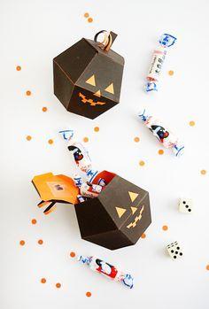 Printable Spooky Pumpkin Boxes