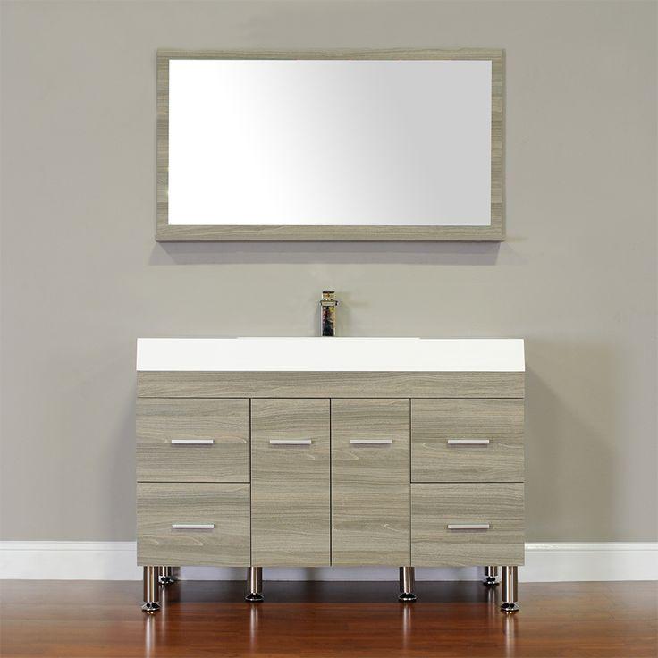 8 best alya bath at 8042 g 47 single modern bathroom vanity grey images on pinterest for Modern bathroom vanities for less