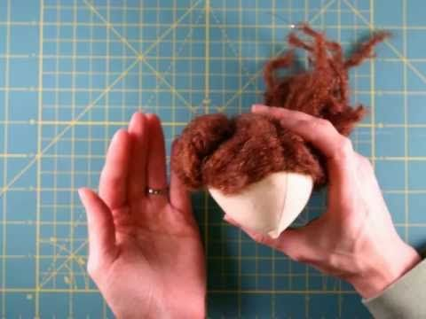 Cloth doll making: How to make cloth doll hair - YouTube. Nice and elegant tutorial. Like it.