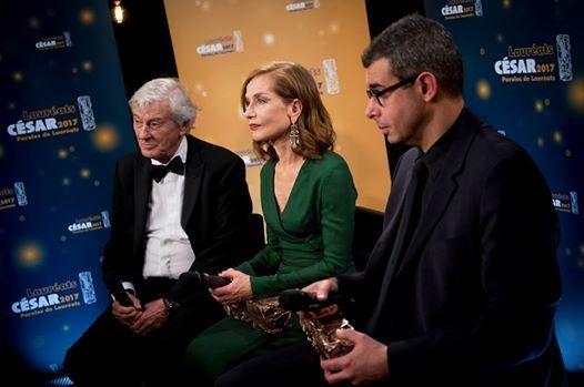 Paul Verhoeven, Isabelle Huppert et Saïd Ben Saïd lors de la 42eme Cérémonie des