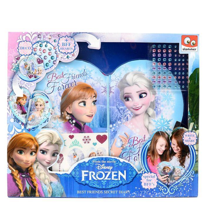 Geheimen die je alleen met je allerbeste vriendin wil delen? Daar kan je dit Disney Frozen dagboekset goed voor gebruiken! Het dagboek heeft een hartjesvorm en er is genoeg ruimte om al je geheimen op te schrijven. Je kan het zelfs extra versieren door stickertjes van Frozen erbij te plakken. Dit alles moet natuurlijk wel geheim blijven en daarom zit er een slot met twee sleuteltjes erbij. Aan de sleutels zit aan ieder een halve hart hangertje, zodat het samen een heel hart is.Afmeting:…