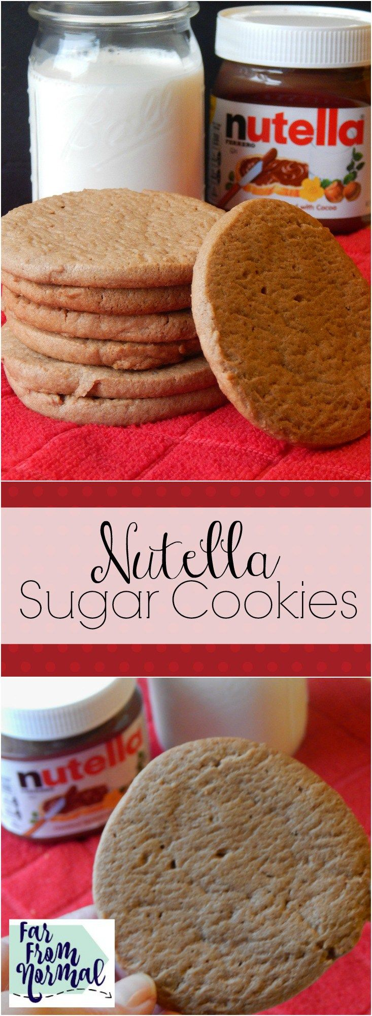 These Nutella sugar cookies are seriously AMAZING!!! Soft chewy, perfect flavor and texture!!
