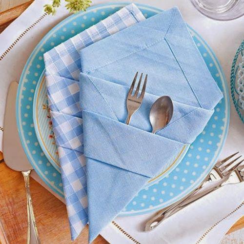 17 mejores ideas sobre doblar servilletas de papel en - Doblar servilletas para navidad ...