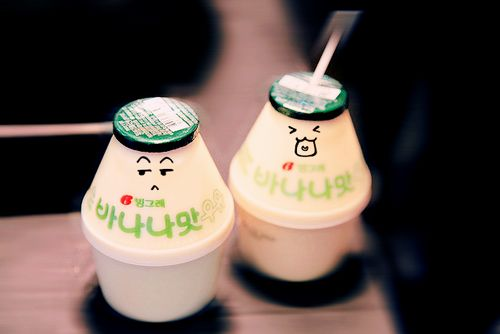 banana milk A child's favorite drink! Mine too! Also have strawberry