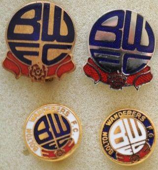 Редкие, очень старые, эмалевые знаки английский профессиональных футбольных клубов:.ФК Болтон Вандерерс