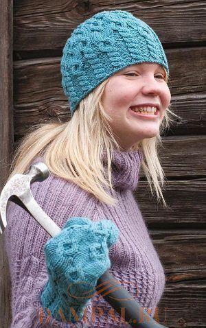 вязаные шапка и варежки шапки Pinterest Knitting Knitted Hats