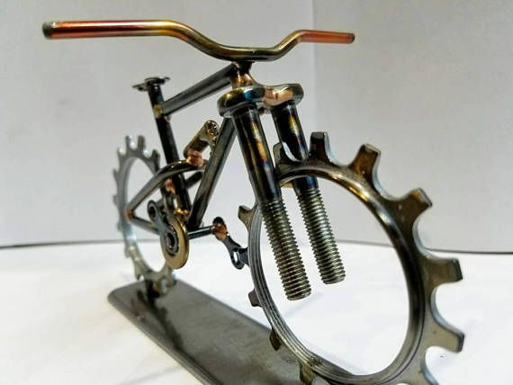 Check out this item in my Etsy shop https://www.etsy.com/listing/528638174/welded-metal-art-mountain-bike-sculpture