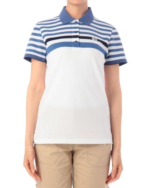 ワッペンつきボーダー切り替えポロシャツ-adabat(アダバット) | 全品送料無料 | レディース・メンズ ファッション通販 MAGASEEK