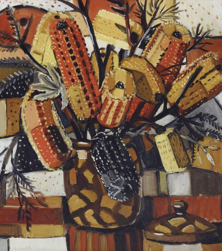 The brown pot by Margaret Preston