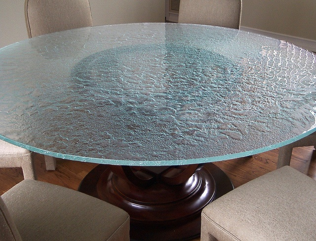 Low iron cast glass table top glass table tops for Cast iron table with glass top