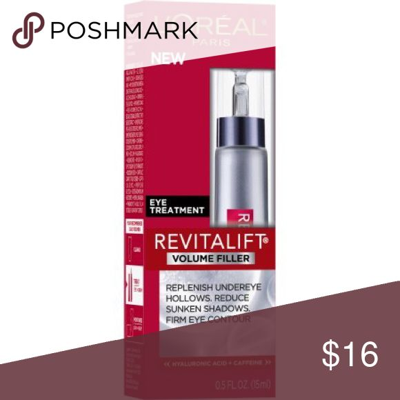 L'Oreal Paris Revitalift Volume Filler Eye Treatmt Opened no box but only used one night.RevitaLift Volume Filler Eye Treatment has a light texture like most serums. It goes on easily, has a very nice, but faint fragrance. It is very silky and hydrating. In order to see results you may need to use it for at least 2 weeks. Also you definitely need to use a moisturizer with it. If you use the serum alone, it may dry up a bit the area where used. If you use it with a moisturizer, the skin looks…
