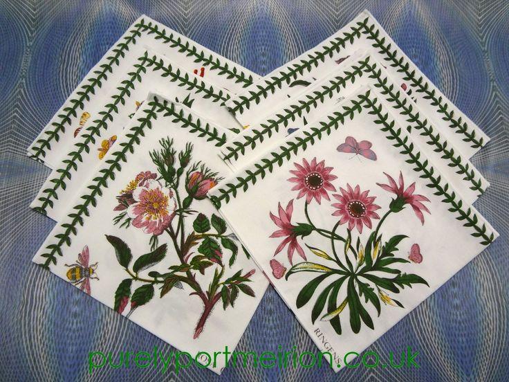 Portmeirion botanic garden napkins set of six as new for Portmeirion botanic garden designs