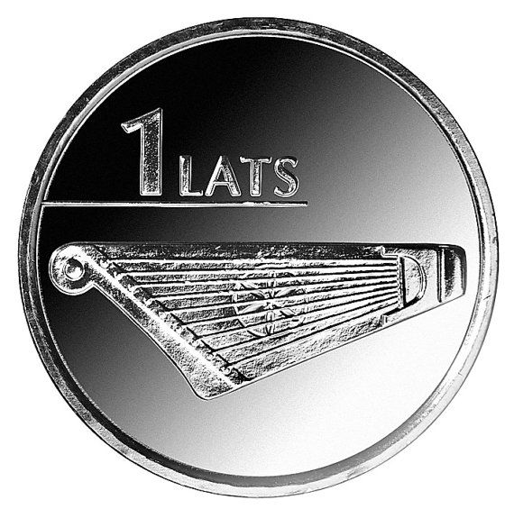 Kokle Coin Latvian by Schulinhaus on Etsy, $6.50