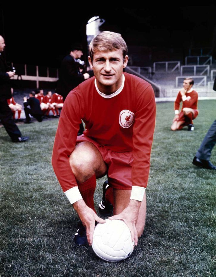 Liverpool footballer Roger Hunt at Anfield July 1968