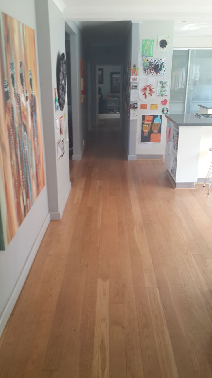 White Oak Tongue & Groove flooring in the kitchen & passageway