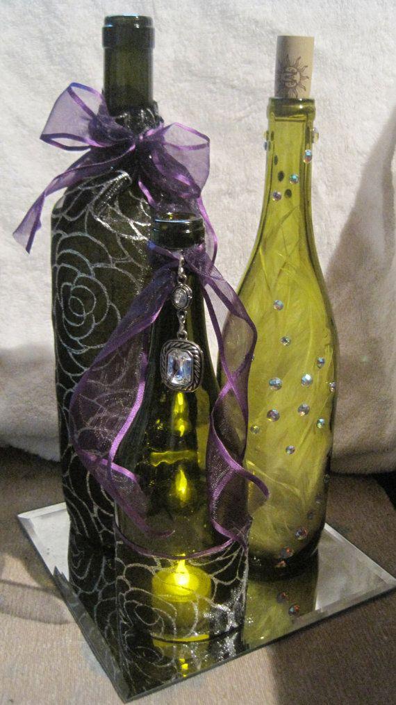 Decorated Wine Bottles Centerpieces 30 Best Heidi Images On Pinterest  Wine Bottle Centerpieces Wine