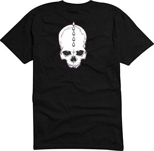 T-Shirt - Camiseta D794 Hombre negro con la impresión en color L - diseño Tribal cómico / abstracto gráfico / cráneo calavera punk con iroqués #camiseta #realidadaumentada #ideas #regalo