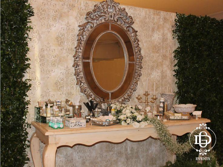 Decoracion Baño Boda:Mesa de baño para boda #GDevents #wedding #vintage #weddingplanner #