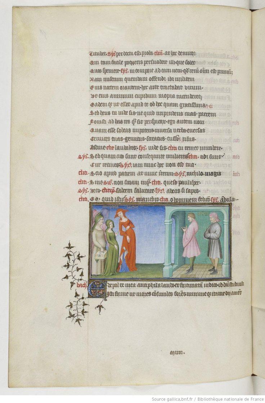 The box! Fol 58v. Publius Terentius Afer, Comediae. 1400-1407. Paris, France.