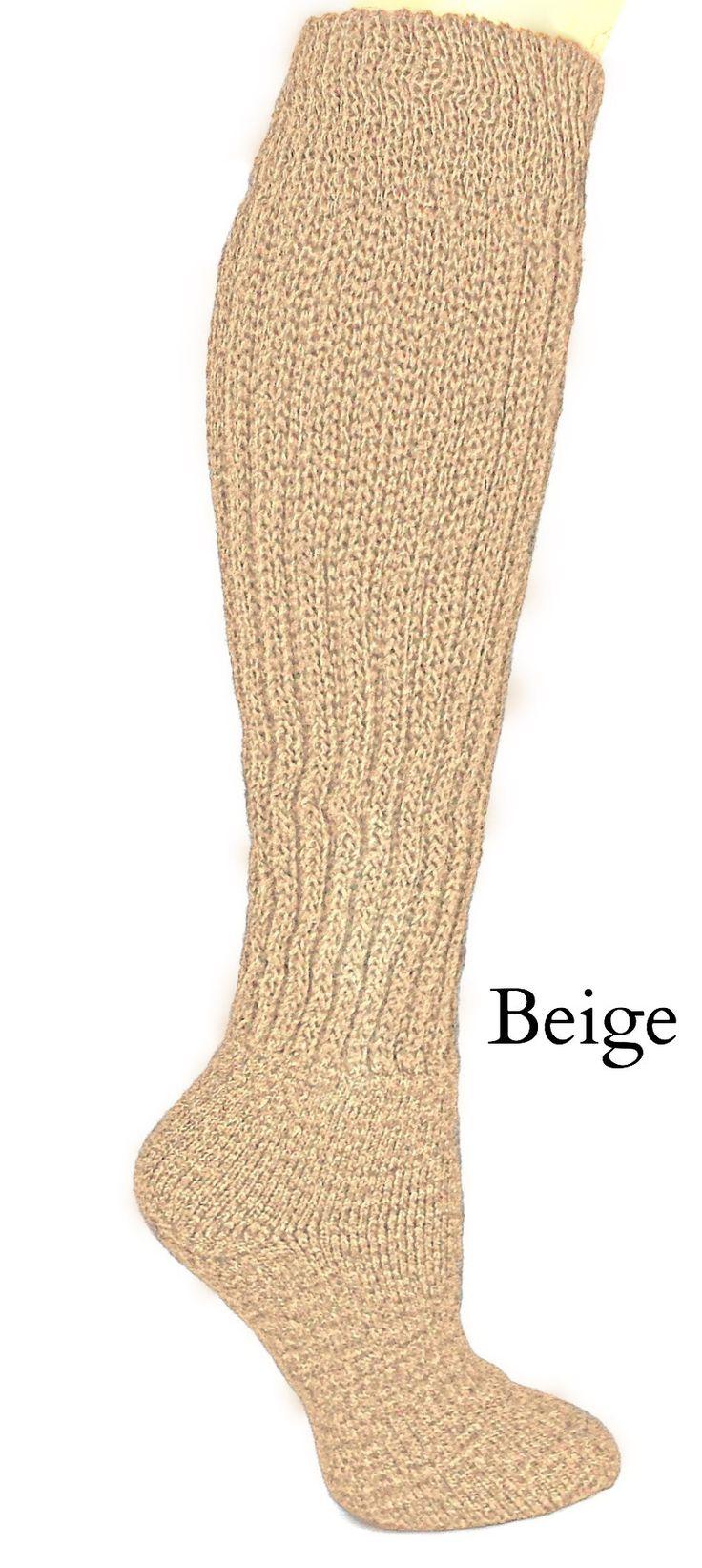 Therapeutic Alpaca Socks - Over the Calf - Diabetic, Neuropathy, Large Calf Socks