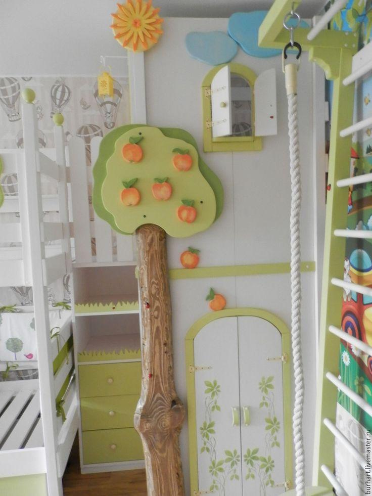 Купить Удивительная страна ЕСЕНИЯ - разноцветный, детская комната, для детей, игровая, кровать из дерева