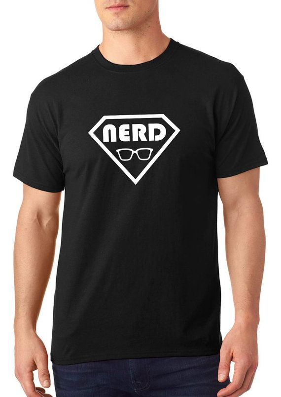 SuperNerd t shirt, nerdy t shirt, superman t shirt, funny t shirt, customized t shirt, cool t shirt, TEEddictive