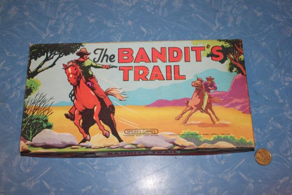 Spear's Games England - The Bandit's Trail - Board Game - Amazing Box Graphics on Etsy, $35.00 AUD