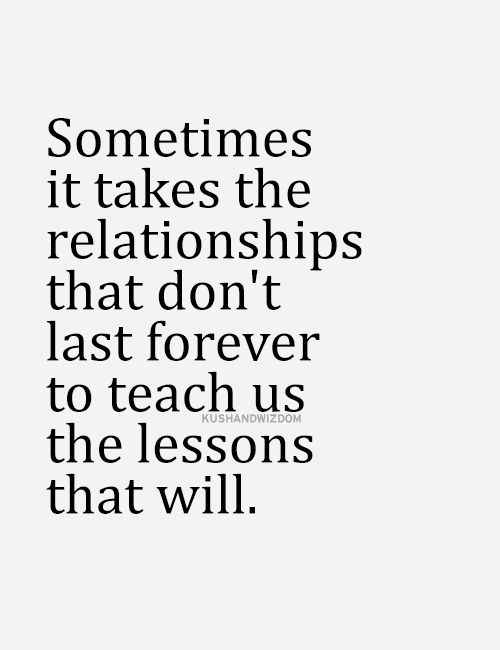 Oh so true!!!! Anthony and I appreciate each other so much more because of the bad relationships we were in before...