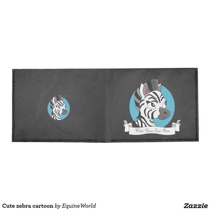 Cute zebra cartoon billfold wallet