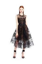 Платье из органзы с вышивкой
