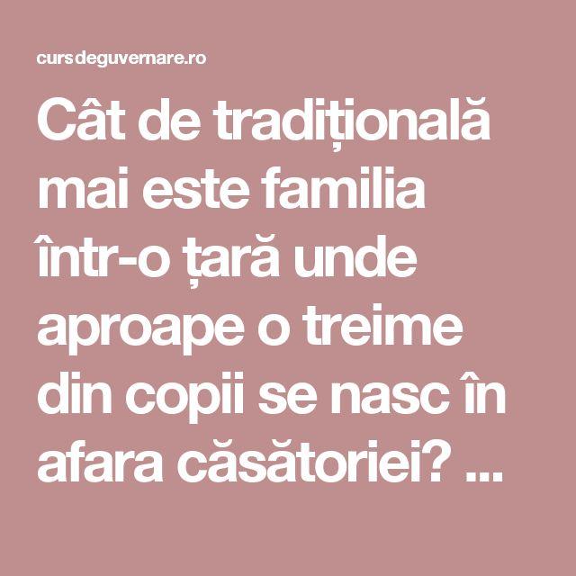 Cât de tradițională mai este familia într-o țară unde aproape o treime din copii se nasc în afara căsătoriei? Comparația cu Europa » CursDeGuvernare.ro
