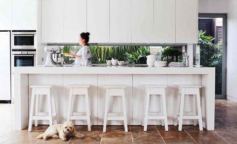 white kitchen ... window splashback ...