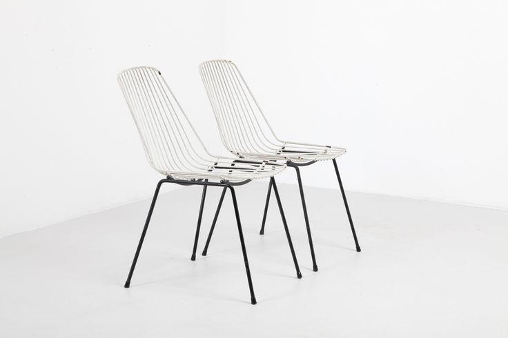 50s wireframe chairs B&W | modestfurniture.com