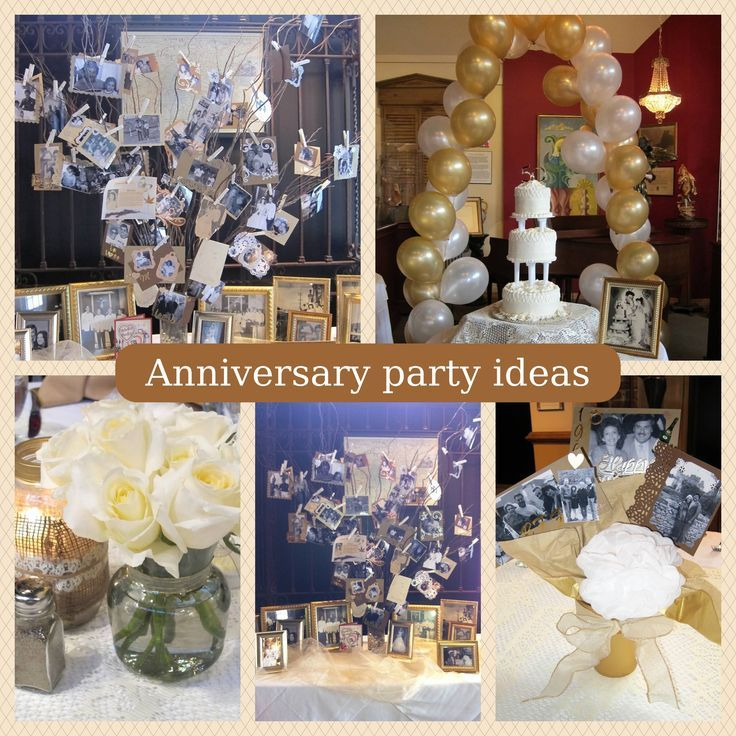 Homemade 60th wedding anniversary decorations for 50th party decoration