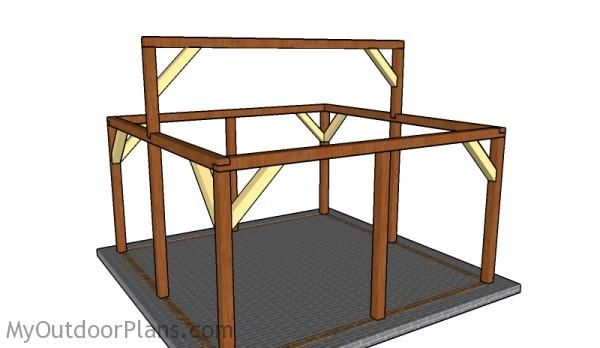 16x16 Outdoor Pavilion Plans Myoutdoorplans Free Woodworking Plans And Projects Diy Shed Wooden Playhou Outdoor Pavilion Pavilion Plans Pergola Plans Diy