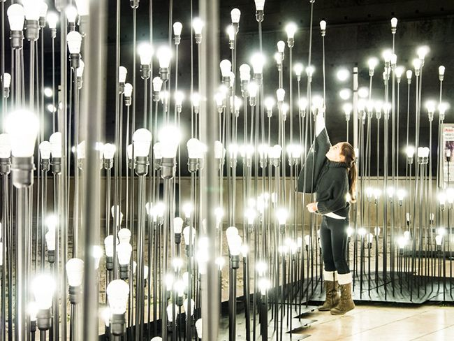 This gorgeous LED light display in Lisbon, Portugal was created using 1200 light spots by LIKEarchitects. It activates a three dimensional space by elevating the lights on metal rods of varying heights. The light display welcomes visitors to interact with piece in the form of wandering along the small path that winds through the center. [...]