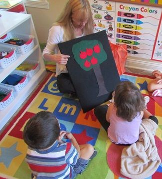 Combine the flannel board and fingerplay in your preschool classroom!