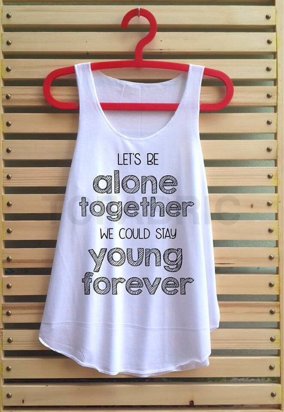 Would love for my honeymoon!!! alone together shirt fall out boy tank top clothing by TCFABRIC, $14.99
