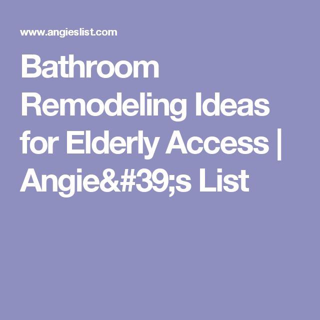 Bathroom Remodeling Ideas Elderly 10 best senior friendly bathroom design ideas images on pinterest
