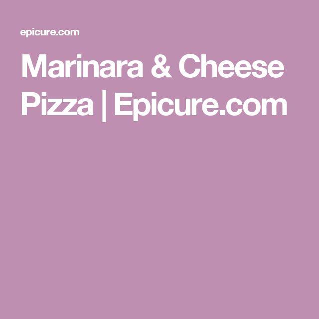 Marinara & Cheese Pizza   Epicure.com