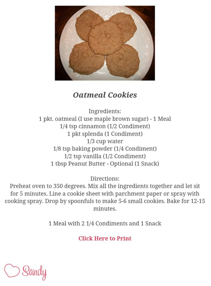 Sandy's Kitchen. Medifast oatmeal remake... into cookies!