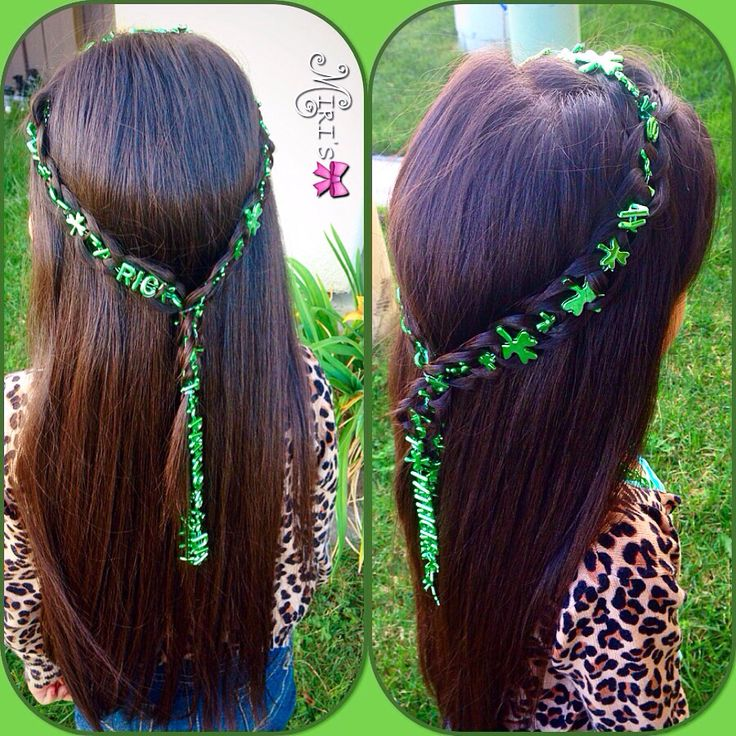 St. Patrick's day hair style for little girls