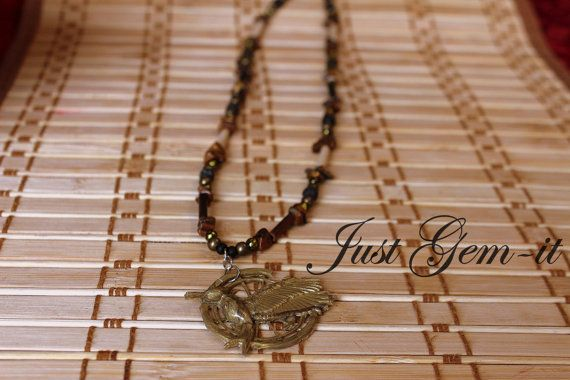 Hungergames Catching Fire handcrafted necklace by Justgemit, $23.00
