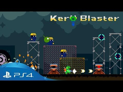 Kero Blaster: Side-Scrolling Retro-Action Game out on PS4 Today   PlayStation 4 Magazine