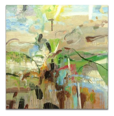 Michael Mazur Back Shore WalkOil On Canvas, Canvas 60