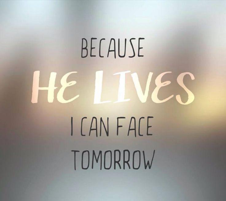 because he lives lyrics pdf